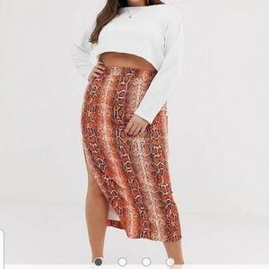 ASOS Curve Snake Print Skirt